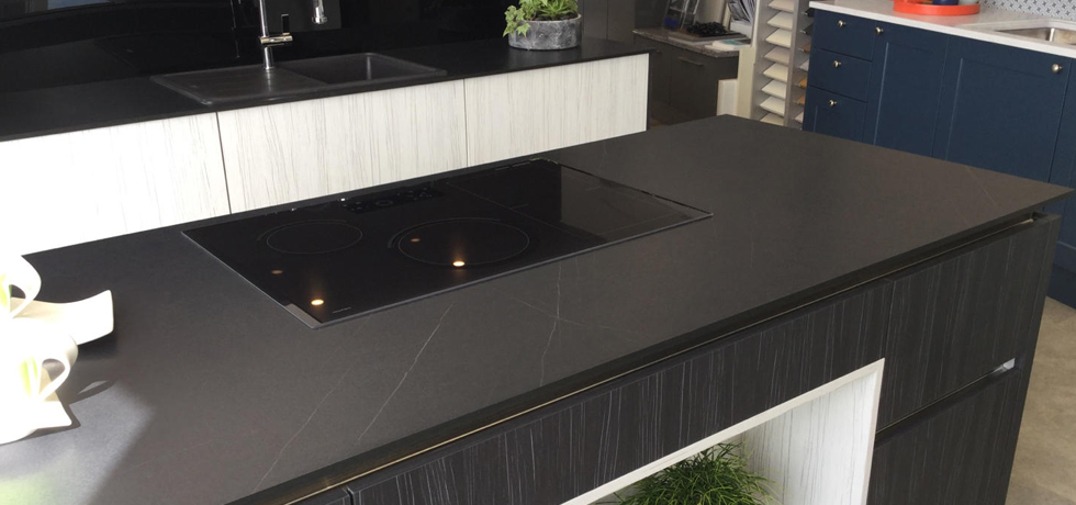 ARD Peterhead displaying Evolve worktops in Lightning Obsidian.