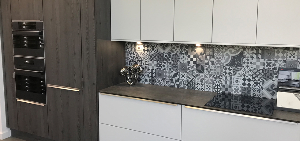 Vista Casablanca Grey splashback displayed by Furniture Components UK Ltd of Lancashire