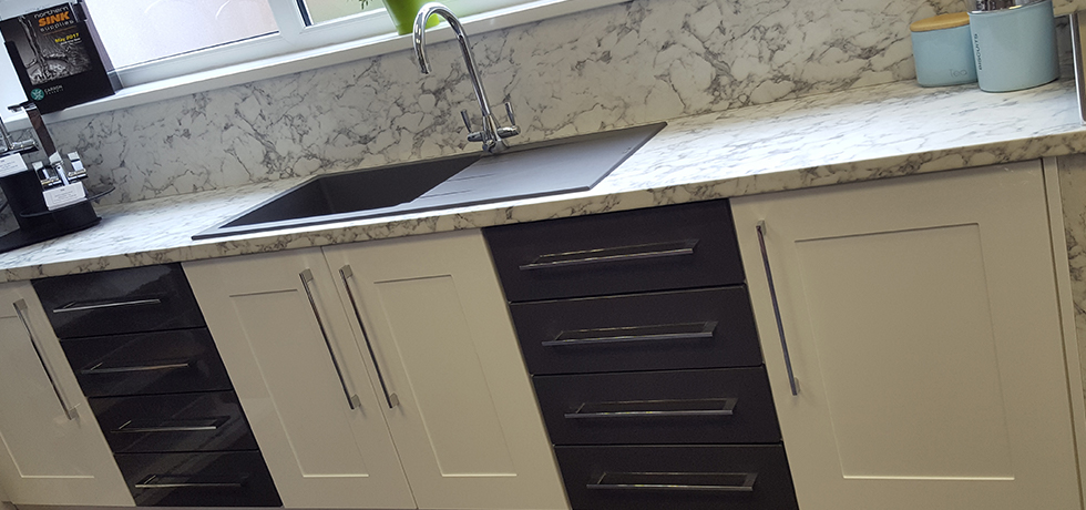 Hytal Kitchens & Bathrooms Ltd displaying Options Turin Marble