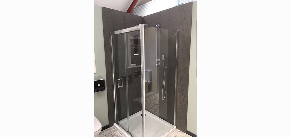 Worcester City Bathrooms displaying Nuance Natural Greystone.