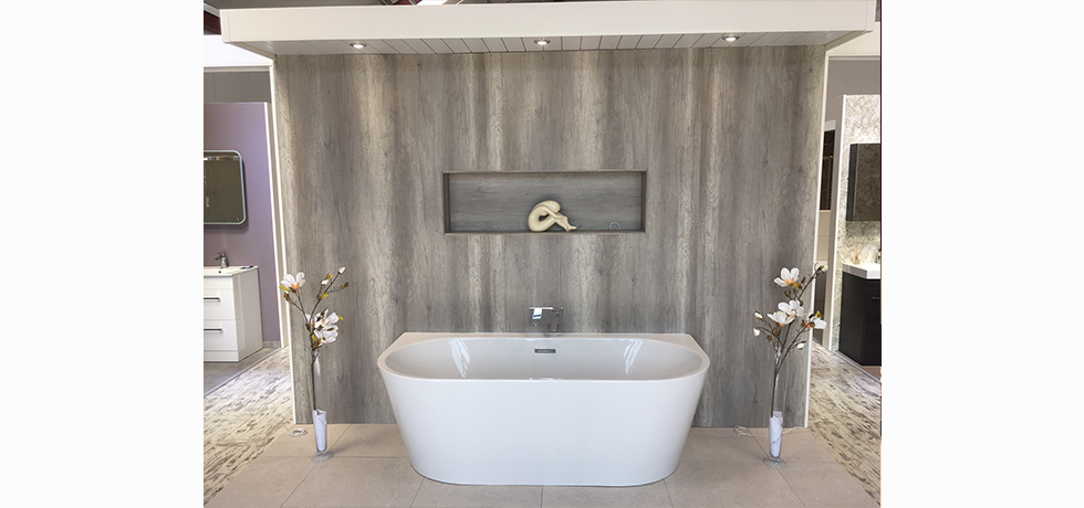 Worcester City Bathrooms displaying Nuance Driftwood.