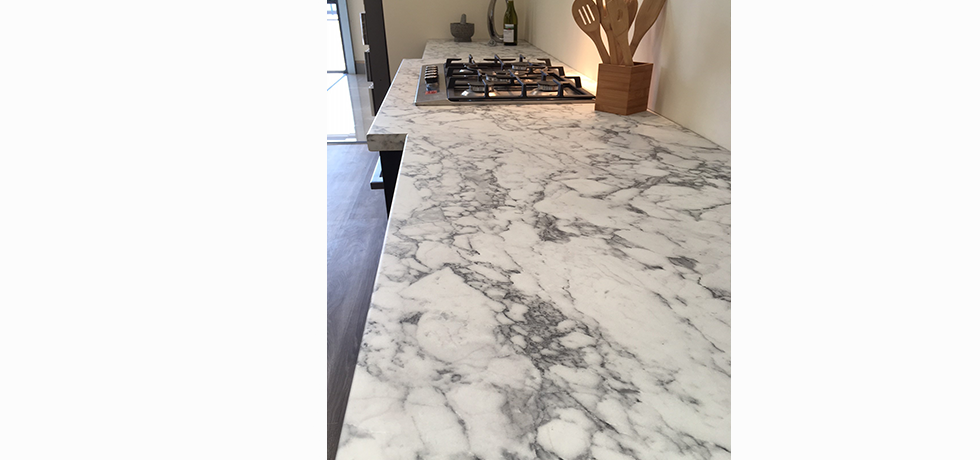 Worcester City Kitchens displaying Options Turin Marble.